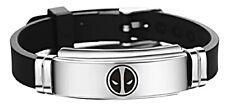 Deadpool Logo Black Bracelet Wristband Fashion Stainless Steel