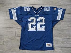 1990s vintage EMMITT SMITH dallas cowboys WILSON jersey 50 XL usa made NFL