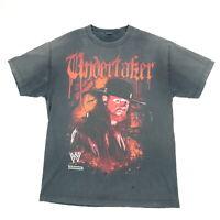 Vtg Undertaker Deadman Inc T-Shirt L Sun Washed Faded Black Distressed WWE RARE
