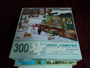 """Bits and Pieces 300 Piece Jigsaw Puzzle Complete Large Pieces """"Maple Sap Time of"""
