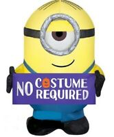 HALLOWEEN MINIONS STUART NO COSTUME REQUIRED SIGN  Inflatable airblown 3.5 FT