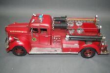 Alte Feuerwehr Modellauto Blechauto 50 cm Oldtimer  Feuerwehrauto No 6