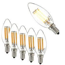 [lux.pro]® 5x LED E14 warmweiß Leuchtmittel Filament 500lm 2700K 5W Kerze Lampe