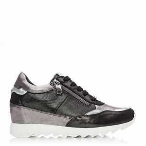 Womens Moda In Pelle Blossome Leather Trainers