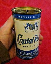 Vintage Crystal Rock White Label Beer 12 Oz. Steel Can Bank Very Nice