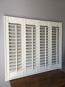 Wooden Plantation Shutter Blinds, Made to measure with Blackout