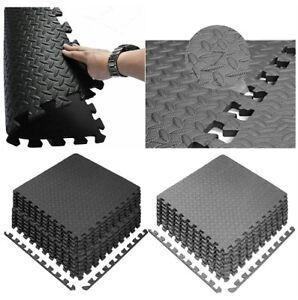 Interlocking Extra Thick Floor Mats EVA Flooring Leaf Soft Foam Yoga Gym Tiles