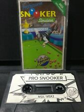 MSX Computer Game - Snooker Simulator  - Rare, Working.