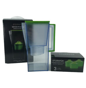 TURAPUR Hydrogen Water Filter PITCHER With 3 New Filters