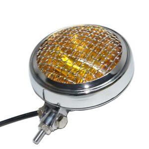 "Custom Motorcycle Bates Style 6"" Chrome Mount Headlight Sealed Beam Head Lamp"