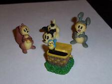 Mickey & Company, Mini Figures Enesco, Lot of 4, Free Shipping, Gt00061
