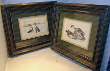 Wood Duck's, Canada Geese Framed Artwork (Pencil Sketch) signed D.F. HIGGASON
