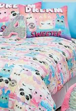 Justice Girl Sweet Treat 7-Piece Bed In A Bag Queen Size Complete Set Room Decor