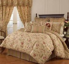 Waverly Imperial Dress reversible 4 pcs Queen comforter set in antique
