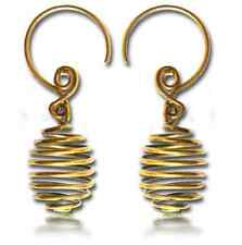 """PAIR 18g (1MM) 1"""" 5/8 INCH LONG (40MM) HAND FORGED BRASS PLUGS EARRINGS SPIRALS"""