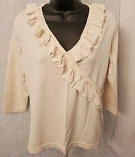 August Silk Womens Tan Silk Shirt Top Blouse Size L