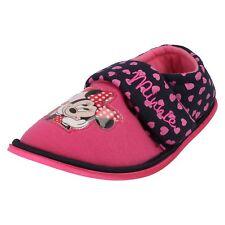 Disney Para Niñas Minnie Mouse Zapatos de interior Rosa Rojo Modelo Corazón