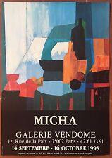 Affiche Exposition MICHA Galerie Vendome 1993 *
