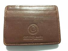 Geoffrey Allen Genuine Leather Bifold Wallet w/ Money Clip Brown