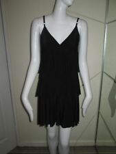NEW LOOK - BLACK ,COCKTAIL,SPAGHETTI STRAP MINI DRESS SIZE 10 100% POLYESTER