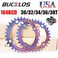 104bcd Narrow Wide Single Chainring 30-42T AL7075 MTB Bike Crankset Chainwheel