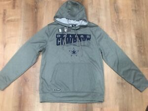 NFL Dallas Cowboys New Era Combine Authentic Team Gray Hoody Sweater Size L NWT