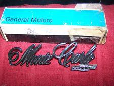 1970-1974 CHEVY MONTE CARLO TRUNK EMBLEM ORIGINAL NOS GM 9631842 '9875087