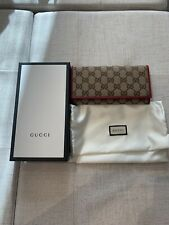 Authentic Gucci Purse Red Trim
