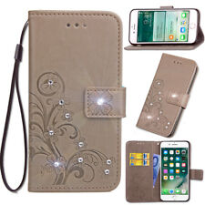 SD FourLeaf Bling-A Strap Leather Wallet Card Case Cover For Oppo Vivo Meizu