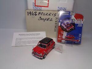 "FRANKLIN MINT ""REDUCED"" 1967 MORRIS MINOR MINI COOPER S. LNIB PREOWNED BONUS CAR"