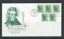 USA 1963, Andrew Jackson, Definitive Coil Stamps 1c, FDC