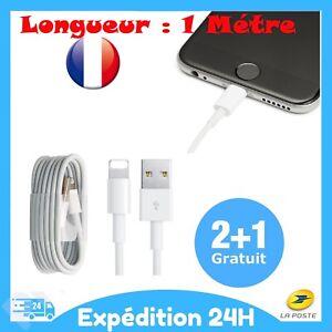 Chargeur Cable USB 1M Cordon Renforcé Pour iPhone 6 7 8 Plus X XS XR 12 Pro Max