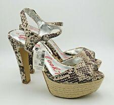 NEXT Ladies Shoes Sandals Size 5 38 Snake Hessian Platform Strappy Peeptoe