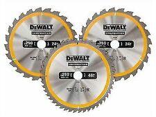 DEWALT Dt1964 305mm 3 Pack TC Saw Blades (1 X 24 1 X 48 1 X 60t)