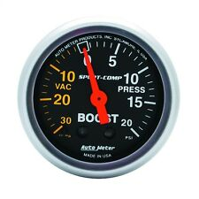 "AutoMeter 3301 Sport-Comp Mechanical Boost/Vacuum 30 in./20 psi Gauge 2-1/16"""