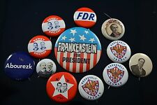 Vintage Lot of Reproduction Presidential Pinbacks Roosevelt FR Taft Parker Nixon