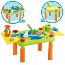Mesa De Arena Y Agua DeaO 2 compartimentos juguetes de playa de plástico para niños pequeños