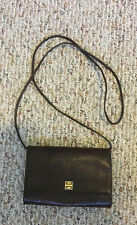 GIVENCY PARIS HANDBAG brown genuine lizard shoulder strap can be used as clutch
