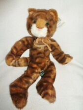Cat Brown Tabby Stripe Plush 12� Tabatha Kitty Russ Berrie HeartCraft Collection