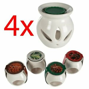 SET OF 4 OIL BURNER MELTS TART CERAMIC AROMATHERAPY CANDLE GIFT HOME + SCENTS