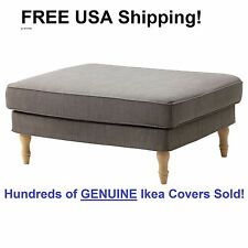 Ikea STOCKSUND Footstool / Ottoman Cover Slipcover NOLHAGA GRAY BEIGE Sealed!