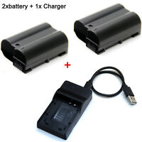 7.0V Battery / Charger For Nikon DSLR D500 D600 D610 D750 D800 D810 D850 Camera