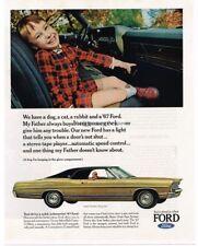1967 Ford LTD 2-door Gold Hardtop Vtg Print Ad
