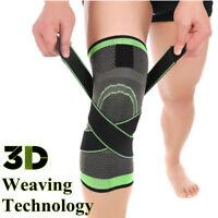3D tessitura Ginocchiera Pad supporto proteggere  Compressione Traspirante Corsa