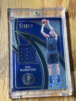 2019-20 Dirk Nowitzki Panini Select Basketball Game Used Jersey Dallas Mavericks