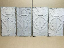 """4 pc 15"""" x 8"""" Torch Antique Ceiling Tin Vintage Reclaimed Salvage Art Craft"""