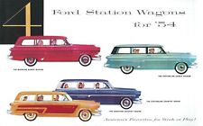 1954  FORD V-8/SIX  STATION WAGON SALES BROCHURE