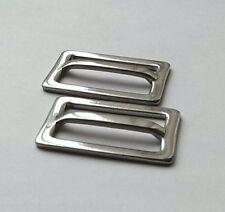 "Set of 4.. Webbing Slides Stainless Steel Bimini Adjuster Buckles for 1"" Strap"