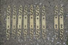 vintage brass door lock plates finger plates door lock covers   - FREE POSTAGE