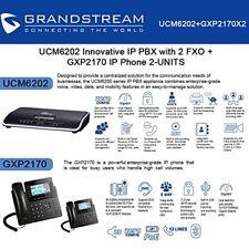 Grandstream UCM6202 IP PBX with 2 FXO + GXP2170 2-UNITS IP Phone New